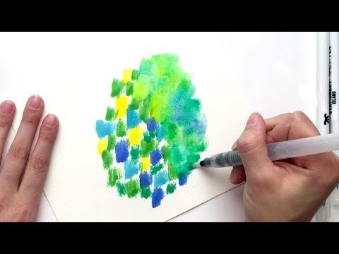 3 Watercolor Texture Tricks Using Brush Pens
