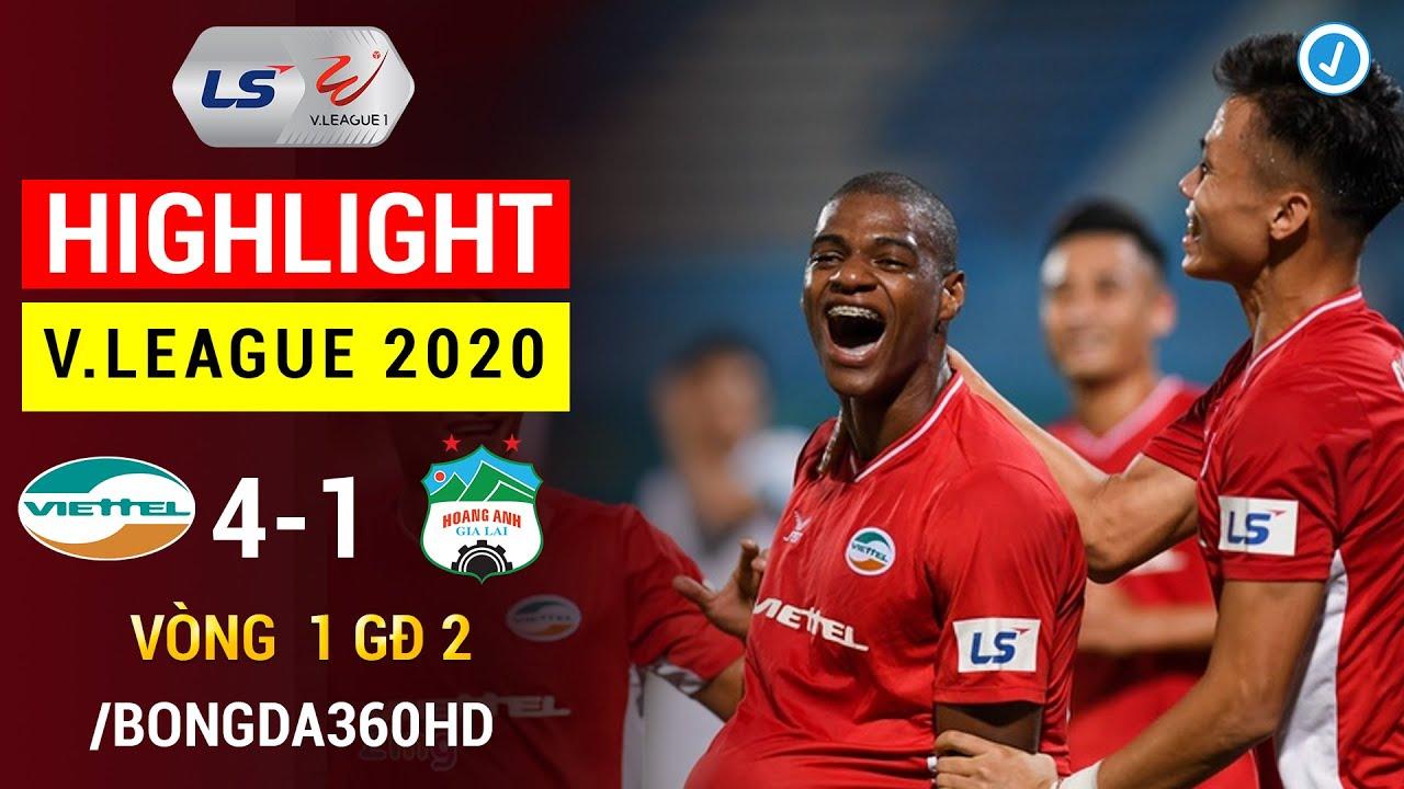 Highlight VIETTEL 4-1 HOÀNG ANH GIA LAI | Cơn Mưa bàn Thắng | Vòng 1 GĐ 2 V.League 2020