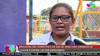 Brigadas del Ministerio de Salud realizan jornada de sensibilización en el barrio Grenada de Managua