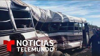 Tren de carga impacta a un autobús de campesinos en Sonora, México   Noticias Telemundo