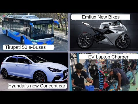 Electric Vehicles News 13: Tirupati e-Bus, Emflux New Bike, Laptop Charge EV