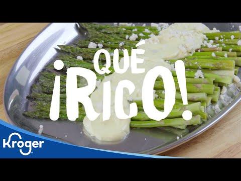 ¡Qué Rico! Asparagus with Queso