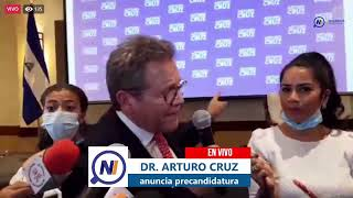 Arturo Cruz anuncia precandidatura a la presidencia