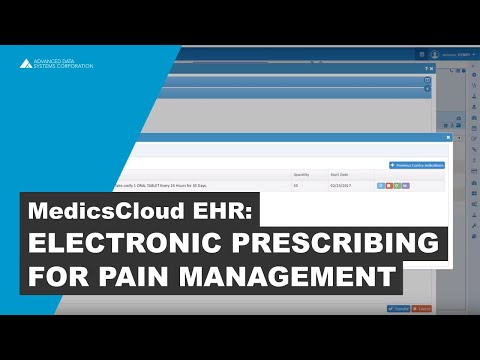 Electronic Prescribing Software for Pain Management