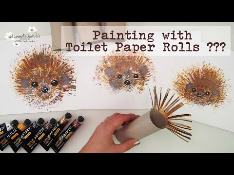 Toilet Paper Rolls 🦔 HEDGEHOG Painting Technique for Beginners ~ ✂️ Maremi's Small Art