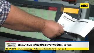 Llegan 3 mil máquinas de votación en el TSJE