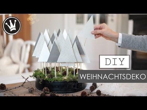 DIY – WEIHNACHTSDEKO im SCANDI STYLE | WINTERWALD in der Backform | Adventskalender | DekoideenReich