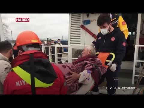 Kocaeli'de batan teknedeki 3 balıkçı kurtarıldı