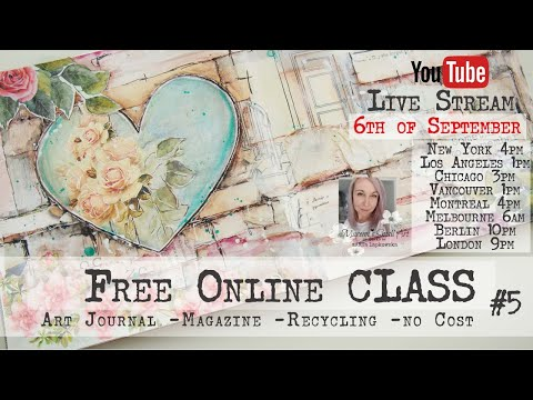 Free Online Class from Maremi ~ Art Journaling using Magazine Cut Outs ~ #5