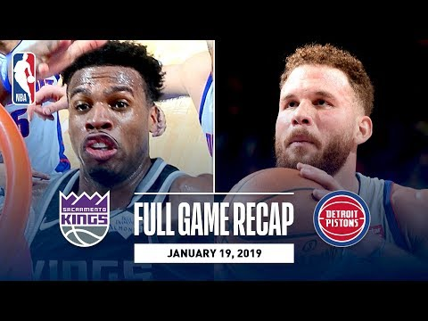 Full Game Recap: Kings vs Pistons | Hield Wins It At The Buzzer
