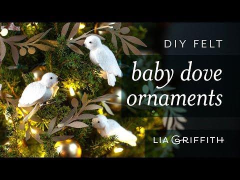 Easy DIY- Felt Baby Dove Ornaments