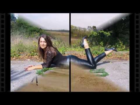 Yo fashion: wetlook leggings & dancing heels on