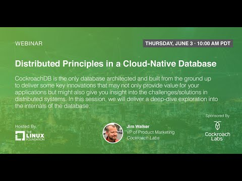 LF Live Webinar: Distributed Principles In A Cloud-Native Database