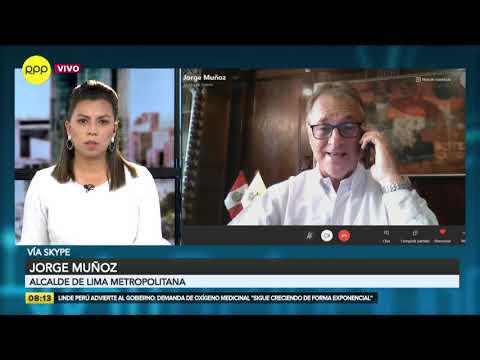 """Alcalde de Lima: """"sea quien fuere el presidente o presidenta, debemos de trabajar de la mano"""""""