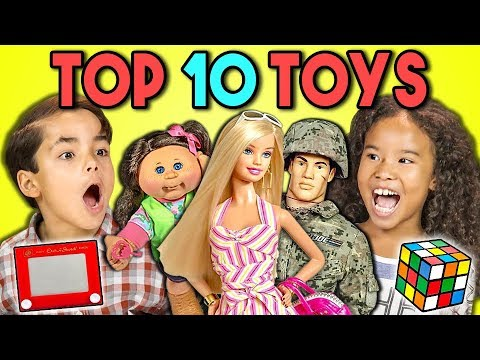connectYoutube - KIDS REACT TO TOP 10 TOYS OF ALL TIME (200th Episode!)