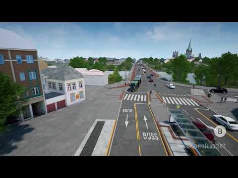 Norconsult - Elgeseter gate, alternativ 2: Parallellført kollektivgate