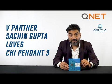V Partner Sachin Gupta Loves Amezcua Chi Pendant 3 from QNET