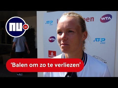 Bertens na verloren finale: 'Waterflesjes op de grond gegooid'