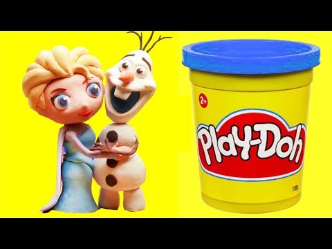 connectYoutube - Elsa & Olaf Stop motion clay animation video funny for kids