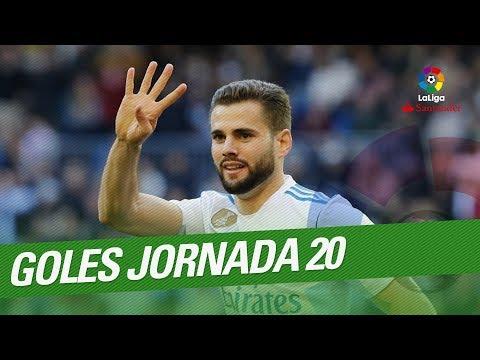 Todos los goles de  la Jornada 20 de LaLiga Santander 2017/2018