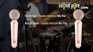 Lauten Horizon LT-321 Drum Kick and Snare Demonstration and Review