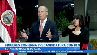 Figueres confirma precandidatura con el PLN
