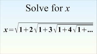 Can You Solve This Crazy Equation? Ramanujan's Radical Brain Teaser