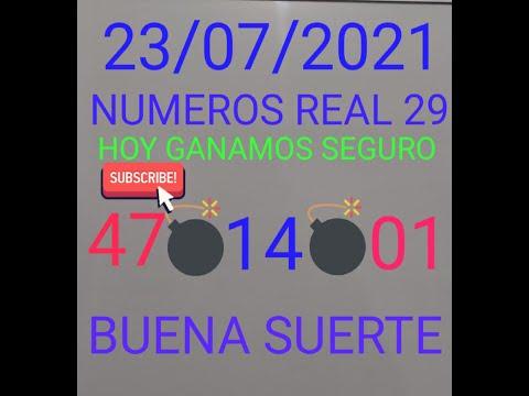 NUMEROS PARA HOY 23/07/21 DE JULIO PARA TODAS LAS LOTERIAS