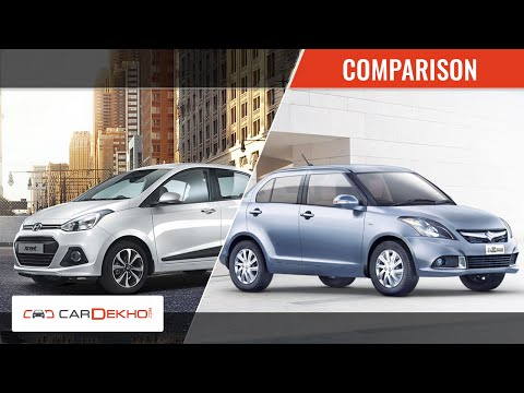 Comparison Video- 2015 Maruti Suzuki Swift Dzire Vs Hyundai Xcent