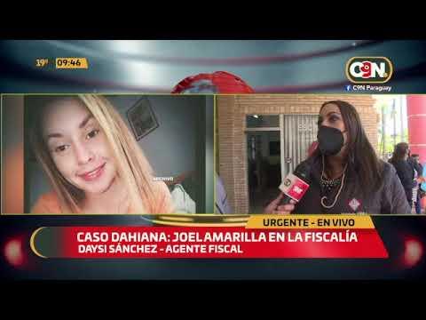 Caso Dahiana Espinoza: Joel Amarilla en la fiscalía