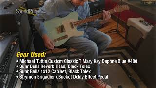 Michael Tuttle Custom Classic T Mary Kay Daphne Blue #480 Quick n' Dirty