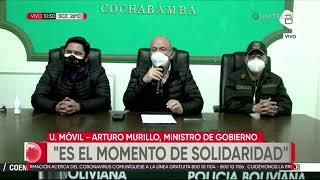 Murillo anuncia expropiación o intervención de dos clínicas privadas en Cochabamba y Santa Cruz