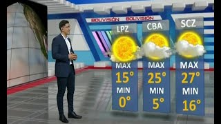 El Clima de Bolivisión: Pronóstico del 15 de junio del 2021