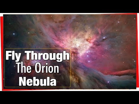 Hubble Telescope: Flight Through Orion Nebula in Visible and Infrared Light
