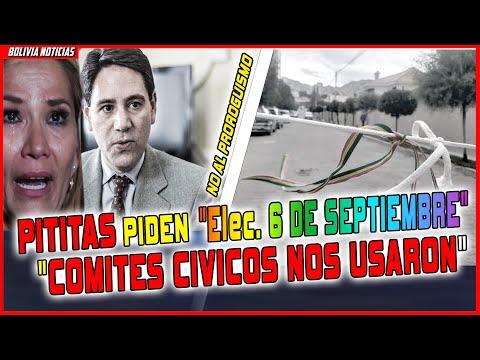 GRUPO PITITA,S PIDEN ELECCIONES 6 DE SEPTIEMBRE EN BOLIVIA