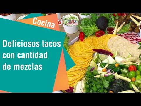Deliciosos tacos con cantidad de mezclas   Cocina