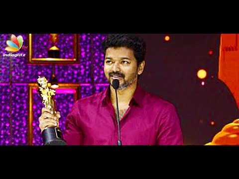 connectYoutube - I knew Mersal dialogues will create controversy : Vijay Speech at Vikatan Awards