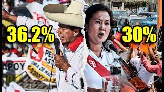 ¡URGENTE! CASTILLO BAJA A 36.2% Y KEIKO REDUCE DISTANCIA A 6 PUNTOS EN NUEVA ENCUESTA IEP