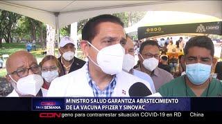 Ministro de Salud garantiza abastecimiento de la vacuna Pfizer y Sinovac