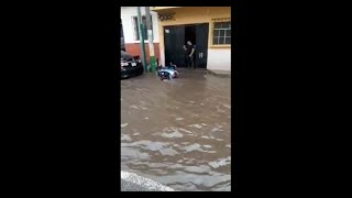 Se registran lluvias e inundaciones en Amatitlán