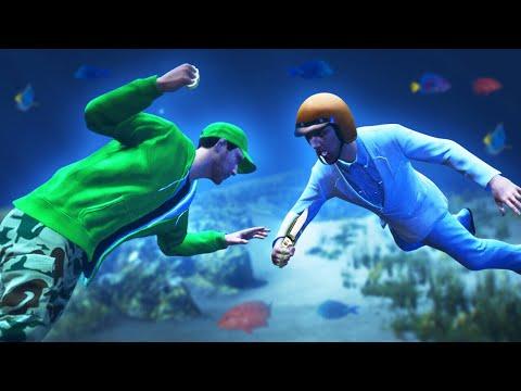 UNDERWATER FIST BATTLE CHALLENGE! (GTA 5 Funny Moments)