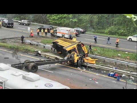 Multiple Injuries After School Bus Collides with Dump Truck in NJ