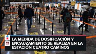 Metro de la CDMX regula la entrada de usuarios a los andenes