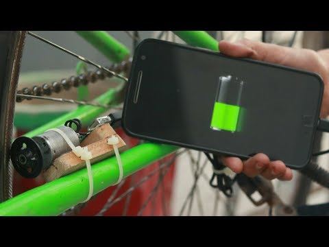 How To Charging Mobile Using Bicycle | Free Energy