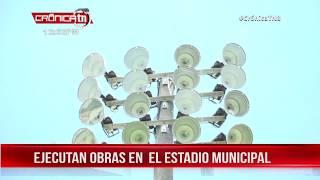 Tipitapa: Iluminación del estadio lleva avance del 70 por ciento - Nicaragua