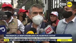 """Julio Guzmán: """"Pedimos a Keiko Fujimori que acepte con madurez los resultados"""""""
