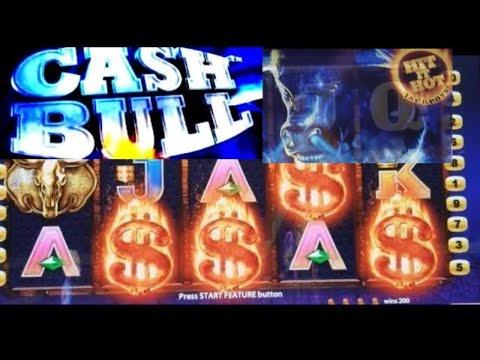 connectYoutube - Cash Bull Slot Machine Bonus Won w/ Retriggers !Live Slot Play