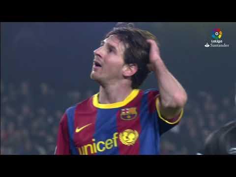 Resumen de Málaga CF vs FC Barcelona (4-1) 2010/2011