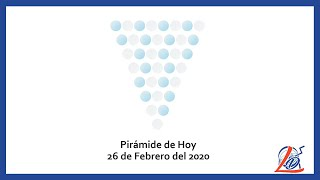 Pirámide del 26 de Febrero del 2020 (Pirámide de la suerte, Pirámide del día, Pirámide de Hoy)