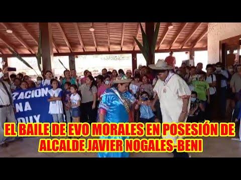 EVO MORALES LLEGÓ MUNICIPIO DE SANTA ROSA DEL YACUMA PARA LA POSESIÓN DE JAVIER NOGALES EN EL BENI